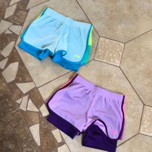 Lg (10/12) Champion shorts w/ biker shorts under
